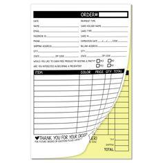 Carbonless Order Form Pad
