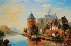 Картина Замок в Голландии | Палитра Фантазий
