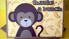 Monkey Thank You Card