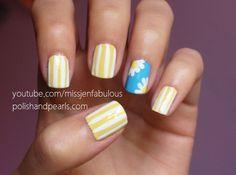 Daisy Nail Art - Polish and Pearls