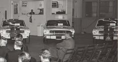 Mustang GT350's Meeting at LAX with Ford Execs. From the George Watters Collection.
