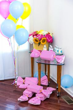 Party table from a Glam Carnival Birthday Party on Kara's Party Ideas | KarasPartyIdeas.com (6)