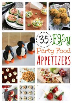 35 Easy Party Food Appetizers | These appetizer recipes from top bloggers are perfect for New Year's and holiday parties, football tailgating, even summer picnics! Easy party food that looks deliciously inspired!