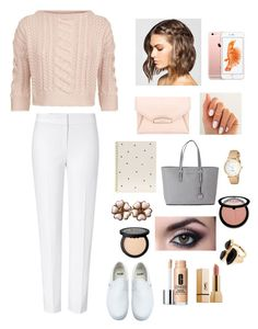 """at the work //"" by chiomaandangel ❤ liked on Polyvore featuring ESCADA, Weekend Max Mara, Givenchy, Sugar Paper, Kate Spade, River Island, Michael Kors, Chanel, Sephora Collection and Clinique"