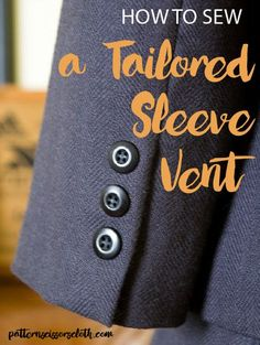 This tutorial explains how to sew a two-piece sleeve vent on a lined tailored jacket, just like this: This is the method you will often find in ready-to-wear, where the vent on the shell is first c…