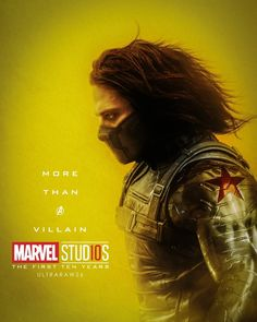 Winter Soldier (Bucky Burnes) More Than A Villain Character posters for Marvel Studios' 10th anniversary