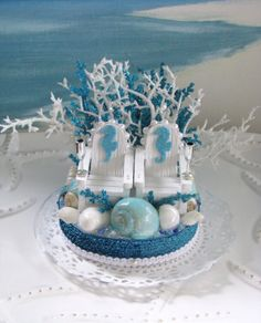 Adirondack Chairs Beach Wedding Cake Topper