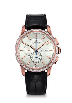 Zenith Captain Winsor      Zenith's new Captain Winsor Annual Calendar brings together two notable watchmaking achievements: the elegantly simple annual calendar complication and Zenith's famous 36,000 vph in-house El Primero chronograph.