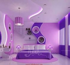 women bedroom interior design trends and wall decoration ideas 2019 House Ceiling Design, Bedroom False Ceiling Design, Bedroom Bed Design, Bedroom Decor, House Design, Bedroom Ideas, Kids Bedroom Designs, Kids Room Design, Awesome Bedrooms