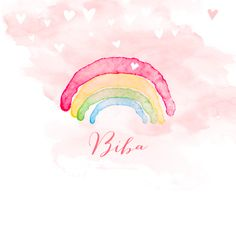 Een super lief geboortekaartje met een aquarel regenboog. De watercolour met hartjes maakt dit mooie kaartje helemaal af! Het geboortegewicht en de lengte van je kindje kun je aangeven met hippe icoontjes. Leuk voor een dochter!