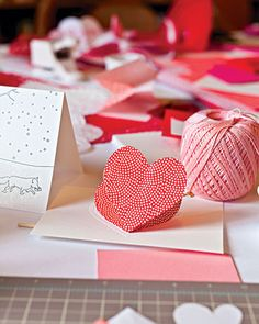 heart in the fold valentine card