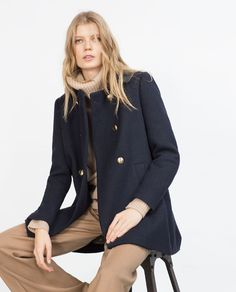 Image 6 of A-LINE WOOL COAT from Zara