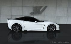 White GT6X Extreme Widebody by Supervettes LLC by Supervettes, via Flickr