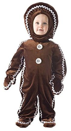 UHC Baby's Christmas Sweet Gingerbread Outfit Fancy Dress Toddler Costume, M (18-24M) *** Find out @