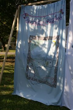 sukkah cats - sheet decorated by my son & DIL for our sukkah