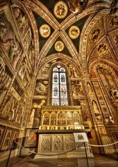 Cappella Baroncelli - Taddeo Gaddi - affreschi sulla vita della Madonna - Santa Croce - Chiesa e Museo - Firenze