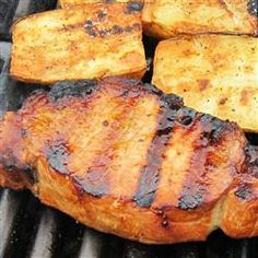 Best Grilled Pork Chops | This marinade works as well on chicken as it does on pork.