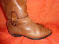 Vintage Stiefel - Stiefel*Vintage*Leder*braun*37*38*Reiter* - ein Designerstück…