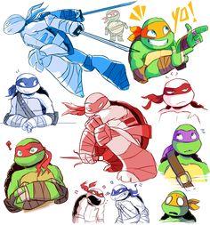 kawaii anime turtles by *RabbidAttack on deviantART
