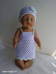 Zomerkleding / Baby Born 43 cm | Nappi.nl patroon Riannes haaksels