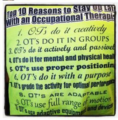 Top 10 reasons to stay up late with an OT! Love it!