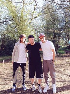 Louis and Liam with Jamie Scott, who will be writing with them for their fifth album.