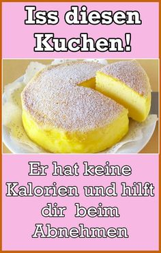 Dieser Kuchen hat nur 2 Zutaten und kaum Kalorien. Kein Wunder dass du ihn genießen und trotzdem gleichzeitig schnell abnehmen kannst.