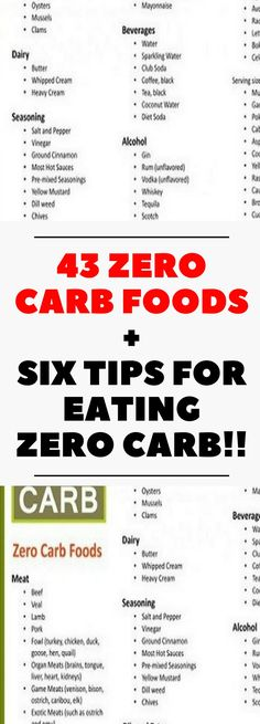 120 zero carb foods list almost zero carb foods http 43 zero carb foods six tips for eating zero carb need to know fandeluxe Image collections