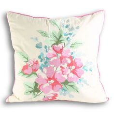 Floral motif embroidered cushion. £17.99 #embroidery, #floral, #print http://www.worldstores.co.uk/p/Paoletti_Tilly_Cushion_in_Blue.htm