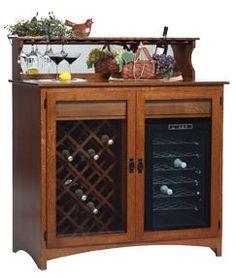 craftsman style wine rack | Mission Craftsman Cherry Wine Rack Bar ...