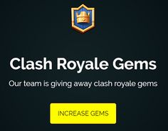 Our team is providing Clash Royale Gems. We are first clash royale gems providers with unique idea! http://royaletip.com/