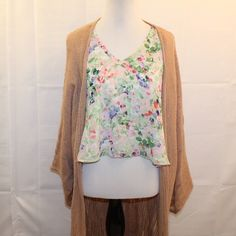 ASTR Nordstrom Brand Floral Sheer Blouse Size M ASTR a Nordstrom Brand Floral Sheer Sleeveless Blouse Women's Size Medium * Only Worn 1x! No Noted Flaws.  * Cardigan Not Included. Bundles Available.  * Please see pictures & ask questions! * Sorry No Trades ASTR Tops Blouses