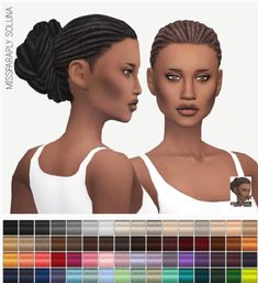 Miss Paraply: Soluna hairstyle • Sims 4 Downloads