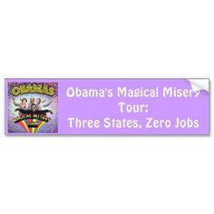 Obama's Magical Misery Tour Bumper Stickers