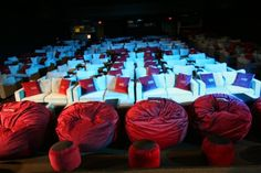 The whole Inwood Theater had sactionals and sacs for seating in Dallas, TX #Lovesac