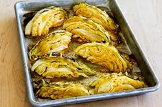 Roasted Cabbage with Lime and Sriracha  [from KalynsKitchen.com] This was just OK