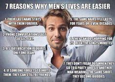 Men have easier lives