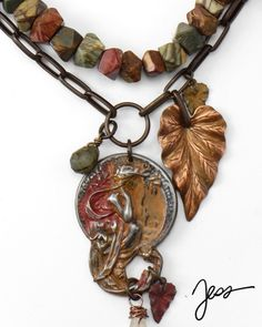 Mineral Autumn by Jess Italia Lincoln #jewelrymaking #necklace #Vintaj