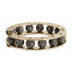 Jan 2014-Black Pave Round Slider Bracelet by Lele Sadoughi | Charm & Chain