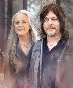 Carol and Daryl by Carrion Walking Dead Zombies, Fear The Walking Dead, Amc Twd, Walking Dead Wallpaper, Daryl And Carol, Dead King, Melissa Mcbride, Tv Couples, Carl Grimes