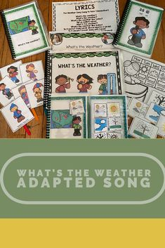 Looking for supports for your circle time weather song? What's the Weather? is a fun weather song that is great for circle time. It has been differentiated. Weather Song, Time And Weather, Picture Writing Prompts, Sentence Writing, English Language Learners, Spanish Language Learning, Speech Language Pathology, Speech And Language, Teaching Strategies