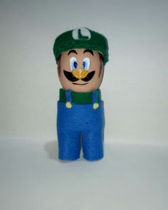 Luigi - easter egg - eggshell creations