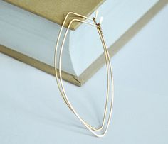 Gold Leaf Hoop Earrings  Petal Hoops  Elegant