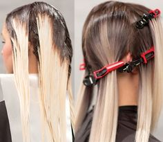 HOW-TO: Color Strobing #behindthechair #hairpainting #balayage #haircolor…
