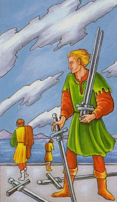 Detailed Tarot card meaning for the Five of Swords including upright and reversed card meanings. Access the Biddy Tarot Card Meanings database - an extensive Tarot resource. Tarot Significado, Tarot Learning, Tarot Card Meanings, Angel Cards, Abusive Relationship, Relationships, Family Memories, Meant To Be, Swords