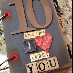 10 things book... Great masculine valentines gift http://cuteomatic.com/valentines-gift-boyfriend