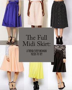 Pinterest Fashion Pins: 6 Midi Skirts You Should Be BuyingMore