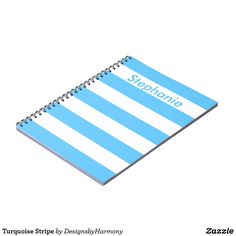 Turquoise Stripe Notebook