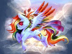 Rainbow Feathers by Evehly.deviantart.com on @deviantART