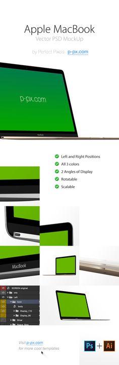 MacBook Rentina Vector MockUp